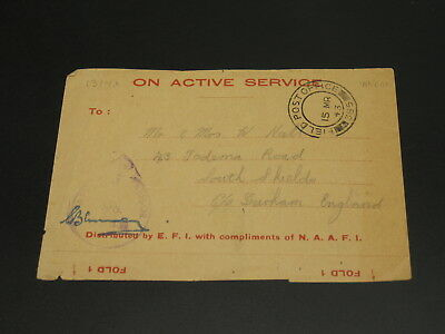 UK 1943 on active service cover front only *13149