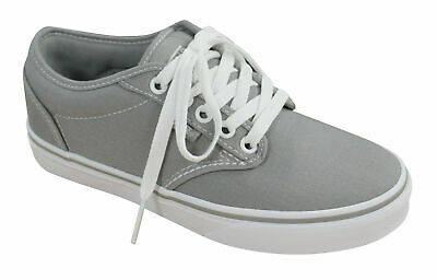 ff0917561dd1 Vans Atwood Womens Low Canvas Lace Up Grey Mid Trainers Plimsolls K0F7HJ  VANS D