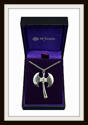 Ancient Labrys Axe ~ Pewter Pendant Necklace ~ From St. Justin ~ Free P&p