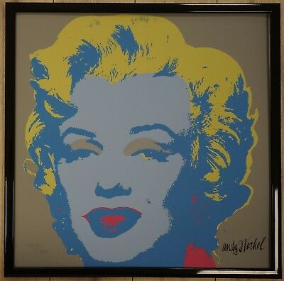 H Andy Warhol Marilyn Monroe Lithograph Limited 2400 pcs.