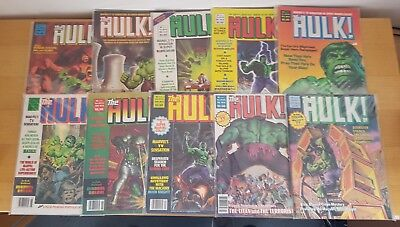 THE HULK COMICS Oversized Issues #11 #13-#21 1979/80 MARVEL STAN LEE