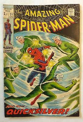 Amazing Spider-Man 71 Silver Age 1969 Quicksilver NF/FN Condition