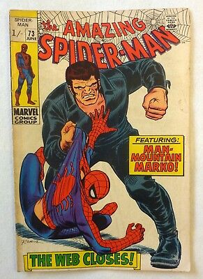 Amazing Spider-Man 73 Silver Age 1969 VG+ Condition
