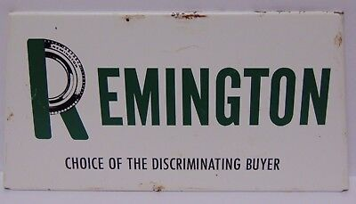 Rare Old Antique Vintage 1960s REMINGTON TIRES GAS OIL METAL Advertising Sign