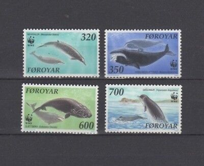 A very nice Faroes 1990 unused Whales group ofIssues