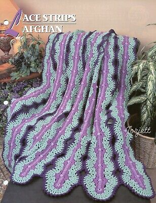 Lace Strips Afghan Lacy Mile A Minute Style Annies Crochet