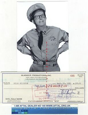 Phil Silvers vintage signed Bank Cheque / Check AFTAL#145