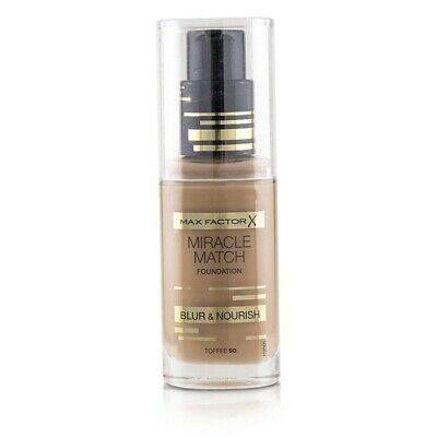 Max Factor Miracle Match Foundation Blur & Nourish - # 90 Toffee 30ml Womens