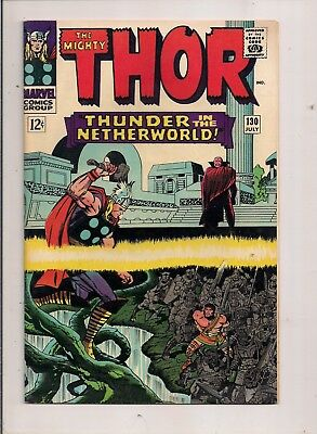 The Mighty Thor #130 Marvel 1966 Hercules App.  Lee & Kirby Classic