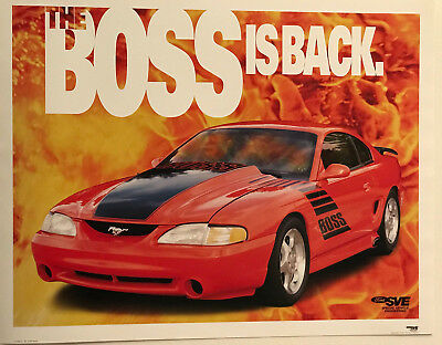 """""""the Boss Is Back"""" - Ford Sve Mustang Cobra Poster"""