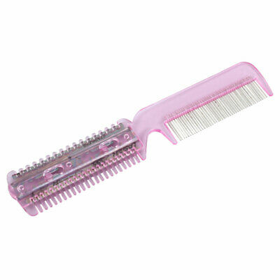 Pink Home Plastic Comb w Hair Cutting Trimmer Razor for Lady