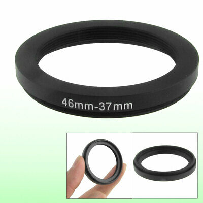Camera 46mm to 37mm Black Lens Filter Step Down Ring Adapter