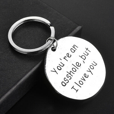 Simple Fashion Multi Style Letter Pattern Keychain Keyring Gift