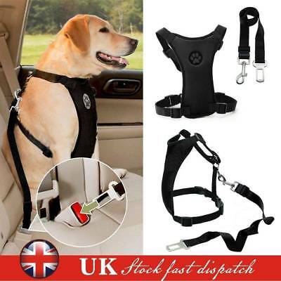Dogs Air Mesh Puppy Pet Dog Car Harness and Seatbelt Clip Lead Travel Safety