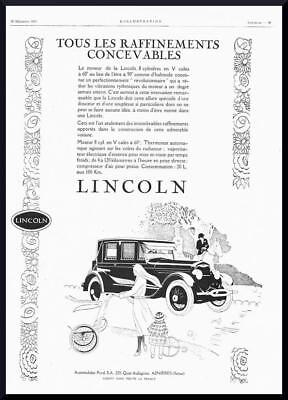 1925 ORIGINAL FRENCH ART DECO ADVERT / PRINT Lincoln Autombile / Car Ad (1036)