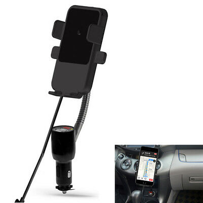 Car Qi Wireless Charger Cigarette Lighter Dual USB Smart Charging Pad Car Holder