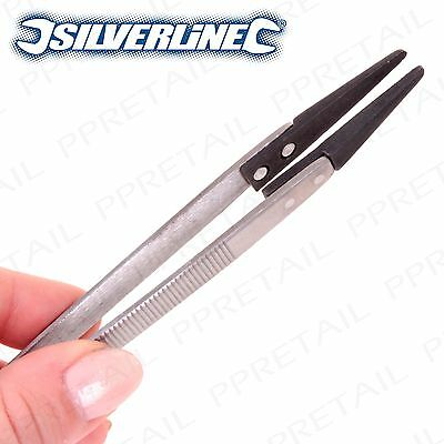 PREMIUM SILVERLINE NYLON TIPPED TWEEZER Non-Magnetic Anti-Static Electrical Tool