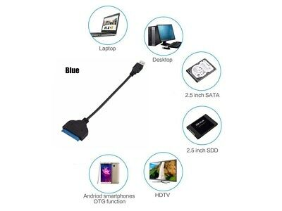 USB 3.0 To SATA 22 Pin 2.5 Inch Hard Disk Driver SSD Adapter Cable Converter AF