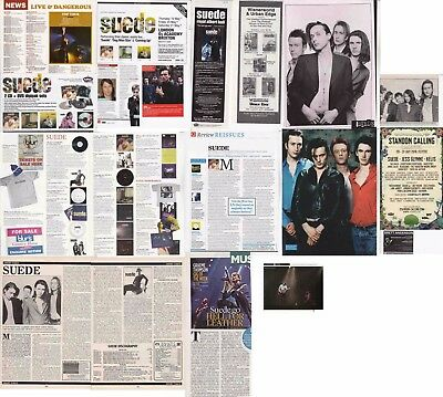 SUEDE : CUTTINGS COLLECTION -adverts etc-