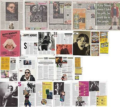 HAPPY MONDAYS : CUTTINGS COLLECTION -interviews adverts-