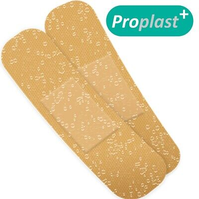 100x DURABLE WATERPROOF PLASTERS Small-Large Water Resistant Washproof Band Aids