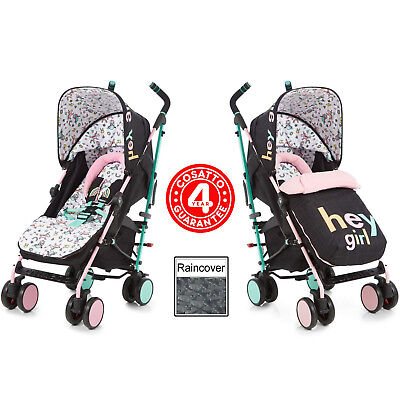New Cosatto Hey Girl Supa Pushchair Stroller Baby Buggy & Raincover From Birth