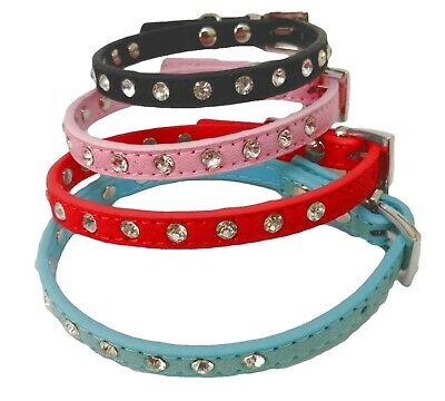 Cat Collar Diamante /Rhinestone Studded  Fits Neck size up to 27cm (UK Seller)