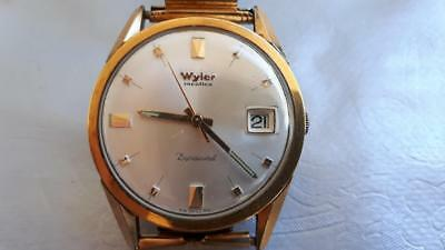 Vintage WYLER Incaflex Dynawind RA SWISS RA WRIST WATCH 388/ 3MD - 1220M Waterpr