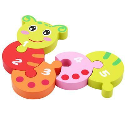Hotsale Funny Wooden Caterpillar Number Jigsaw Baby Puzzle Pre-School Toy C