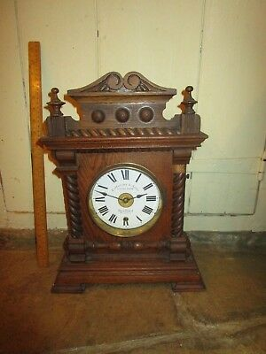 Antique Fattorini & Sons Electric Alarm Clock .Wooden cased Fattorini Alarm