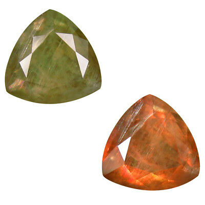 9.11 ct Eye-catching Triangle (13 x 13 mm) Un-Heated Color Change Diaspore