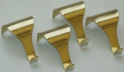 Pack Of 100 Brass Plated Picture Rail Moulding Hooks
