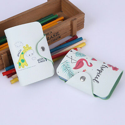 Cartoon Cute Credit Card Holder Faux Leather Buckle Business ID Holders Z