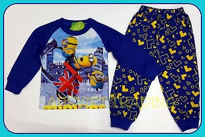 Despicable Me Minions kids boys girls Pyjamas tshirt top sleepwear pajamas