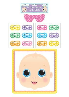 Stick The Dummy On The Baby Party Game Boy Girl Baby Shower Gender Reveal Unisex