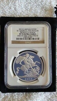 GB  2013 pistrucci royal birth silver coin F.S. NGC-PF70
