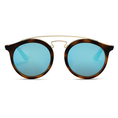Ray-Ban RB4256 Gatsby I Sunglasses (Tortoise Brown and Gold/Blue Mirror)