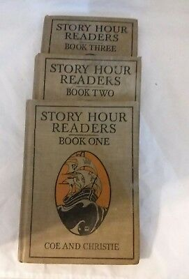 Antique Story Hour Readers Book One Two And Three 3 Books 1913 American Book Co