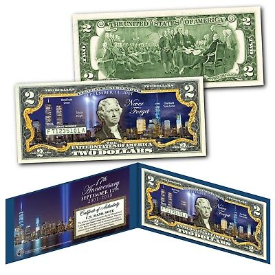 World Trade Center SOL 9//11 10th Anniversary $2 US Bill GRN SPECIAL LOW PRICE