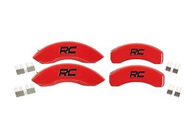Rough Country Disc Brake Caliper Cover Set-Red, 12-18 Ford F-150; 71120