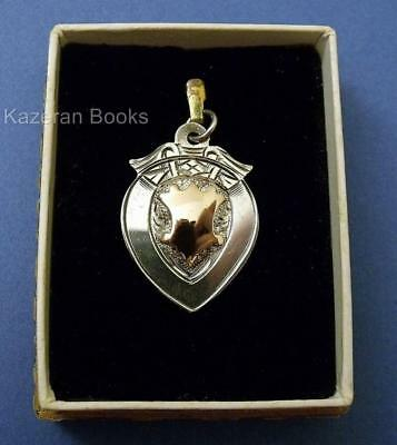 Vintage Solid Silver Miniature Rifle Club Watch Fob Pendant SCAMRC 1937