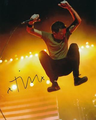 Tim McIlrath- Rise Against Signed Color Glossy Photograph