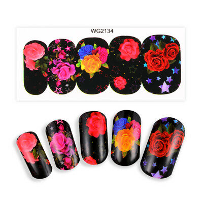 3 Sheets Water Transfer 3D Flower Manicure Nail Art Stickers Decals DIY MTSSII