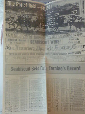 rare SEABISCUIT two-side POSTER FOLD-OUT