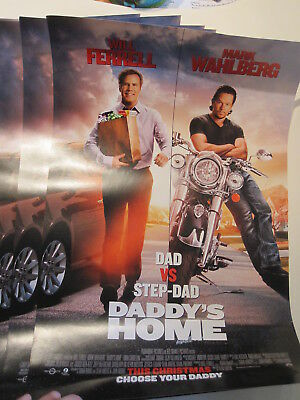 LOT OF 8 DADDY'S HOME Movie POSTER 11 X 17 MARK WAHLBERG - WILL FERRELL