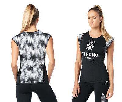 STRONG by Zumba - Squat Sync Sweat Top - Bold Black - XS, Small, Large, XL