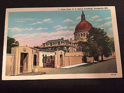Main Gate U.S. Naval Academy Annapolis Maryland MD Postcard ID#183
