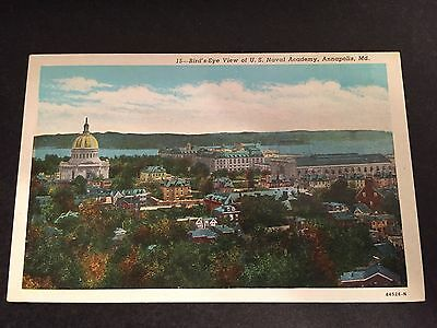 Bird's-Eye View U. S. Naval Academy Annapolis Maryland MD Postcard ID#181