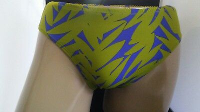 Mens Nylon Spandex Full Back Brief s m l or xl smooth front Custom classic Leaf
