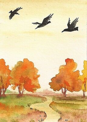 1.5x2 DOLLHOUSE MINIATURE PRINT OF PAINTING RYTA 1:12 SCALE LANDSCAPE watercolor